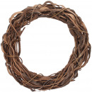wholesale Artificial Flowers: Wreath Lani , D50cm, H8cm, natural